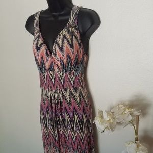 Loveappella colorful maxi dress small